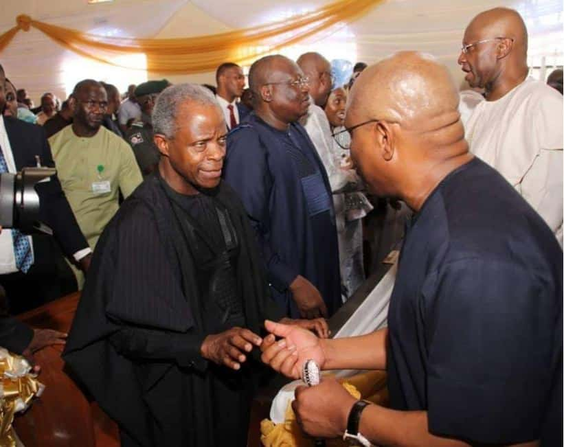 Vice President Osinbajo, Governor Wike, Other Top APC, PDP Leaders Meet (photos)