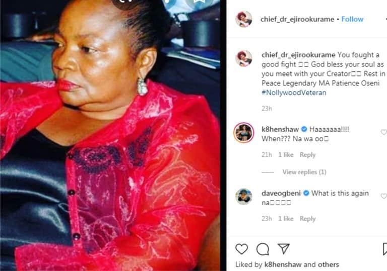 Breaking News: Popular Veteran Nollywood Actress Dies