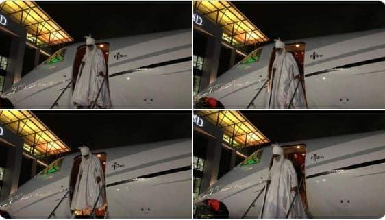 BREAKING: Dethroned Emir Sanusi Arrives Lagos (Video/Photos)
