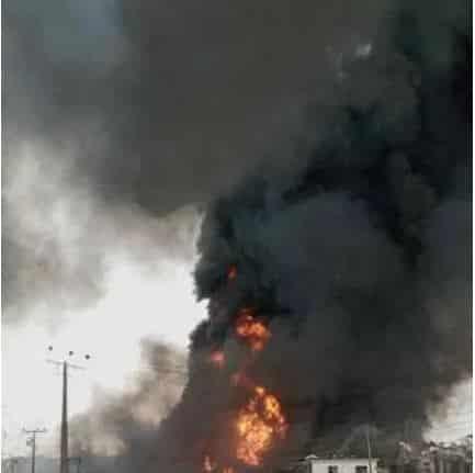 BREAKING: Pipeline Explosion Rocks Abule Ado, Festac In Lagos (Video)