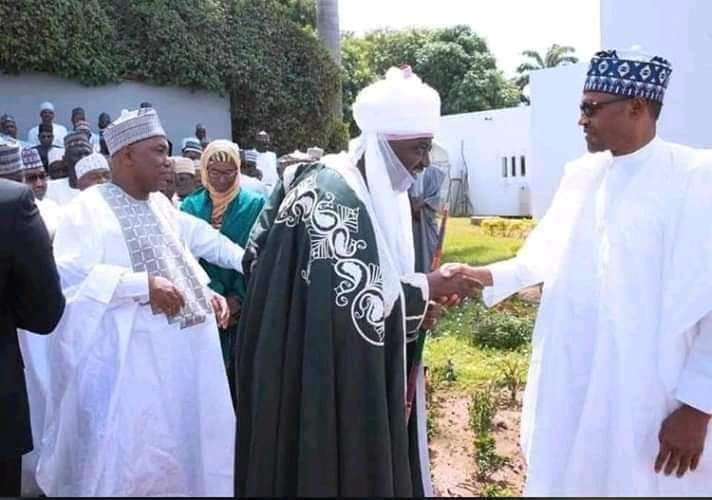 New Emir Of Kano Visits Buhari In Aso Rock (Photos)