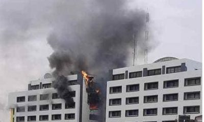BREAKING: Office Of The Accountant-General Of The Federation On Fire