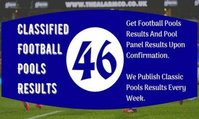 Classified Football Pools Fixtures: Week 46 Pool Result 2020 – AUSSIE 2020