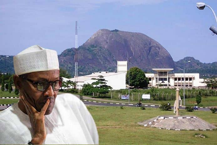 Nigeria's Presidential Villa, Aso Rock On Fire (Video)