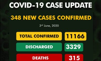 BREAKING: Nigeria Records 348 Coronavirus Cases, See Results For Each State