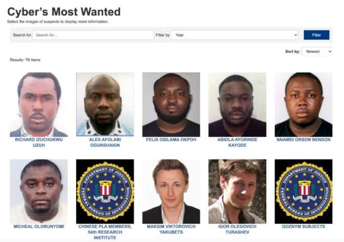 BREAKING: FBI Lists 6 Nigerians Among Most Wanted Cyber Criminals (Full List)