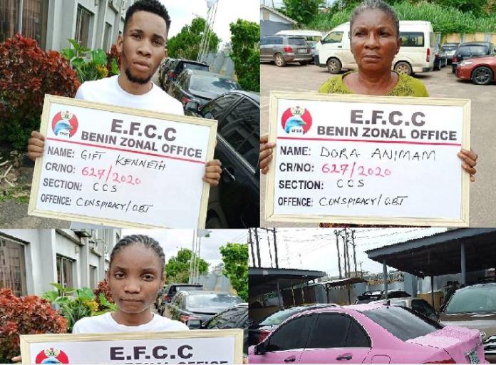 EFCC Arrests Mother, Son, Girlfriend For Internet Fraud