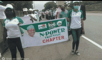 Angry Npower Beneficiaries Protest In Abuja (Photos)