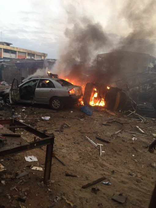 BREAKING: Cooking Gas Explosion In Ajao Estate Kills 'Many' (Video)