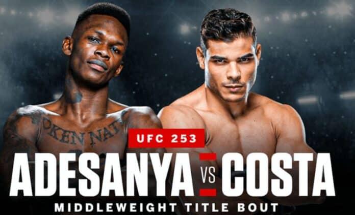 UFC 253: Live Stream Adesanya Vs Costa Fight Here