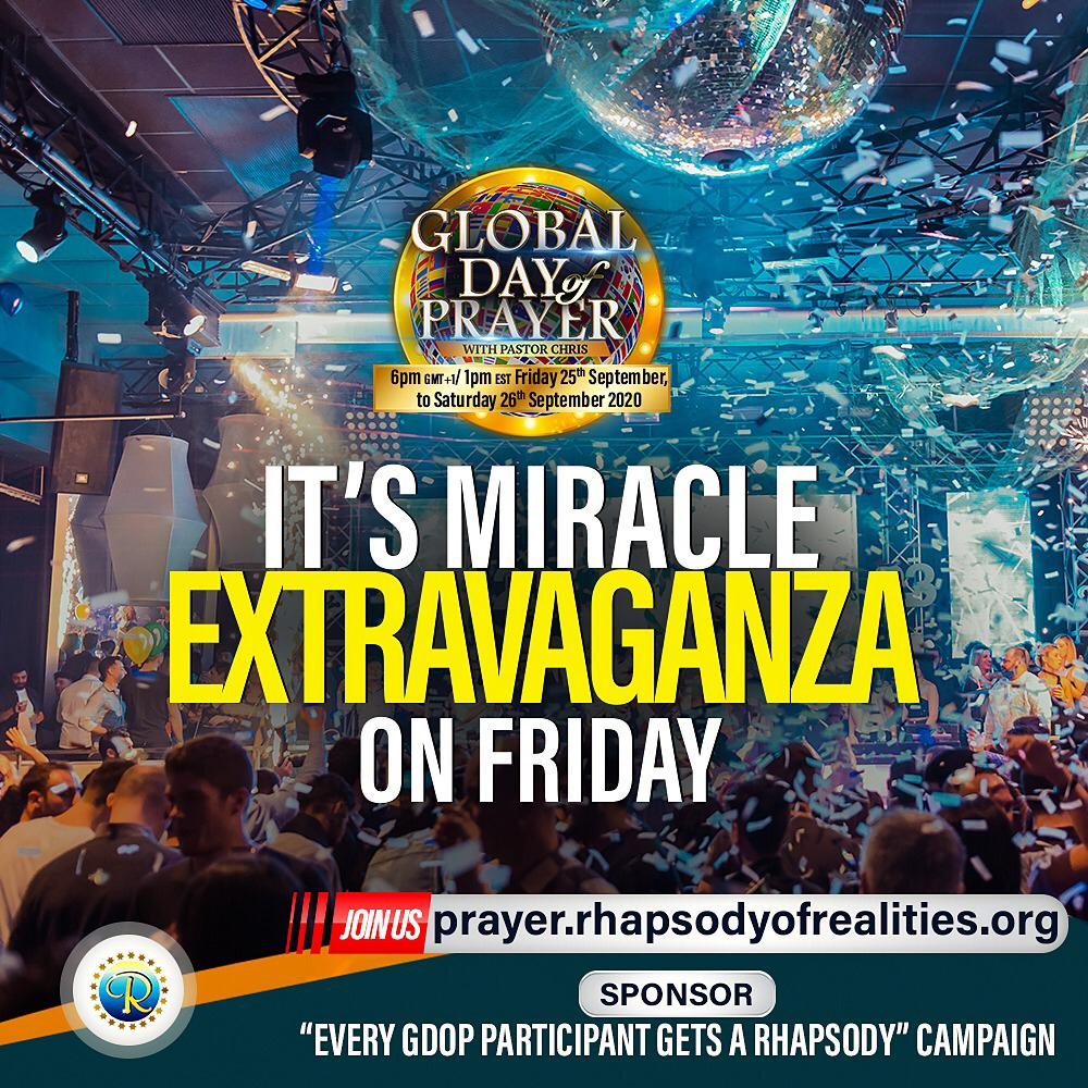 Global Day Of Prayer With Pastor Chris Kicks Off This Friday (Details)