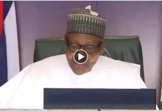 BREAKING: Buhari Addresses #EndSARS Protesters, Makes Vow (Video)