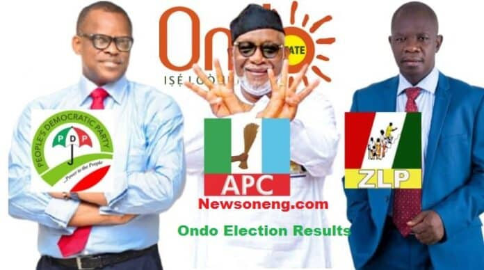See Ondo Election Results From Different LGAs
