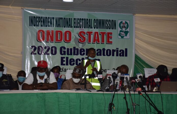 Final Ondo Election Results Of All 18 LGAs Announced By INEC