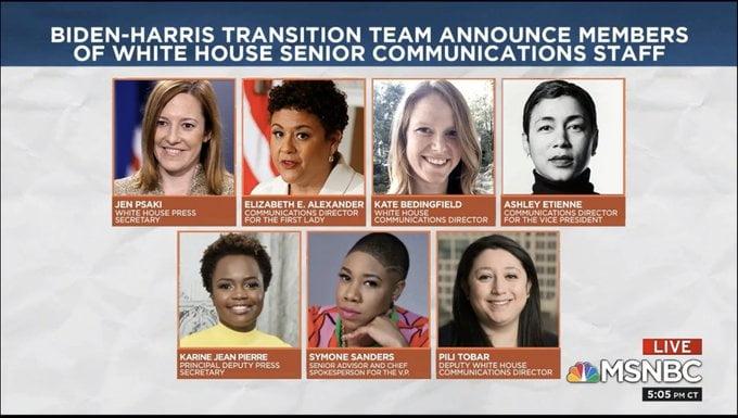 Joe Biden Picks All-Female Communications Team (Full List)