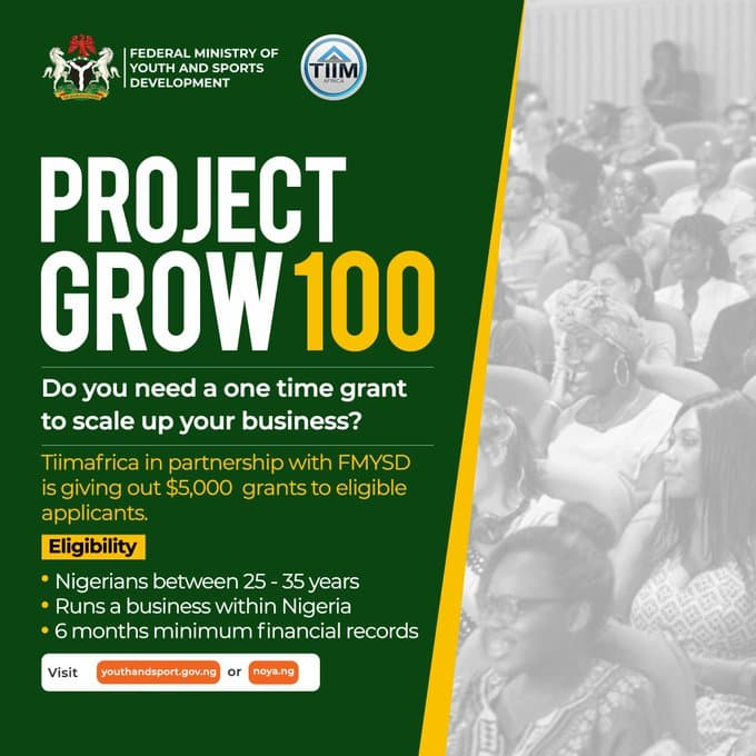 FG Opens Portal For $5000 Grant To Youths (Apply Here)