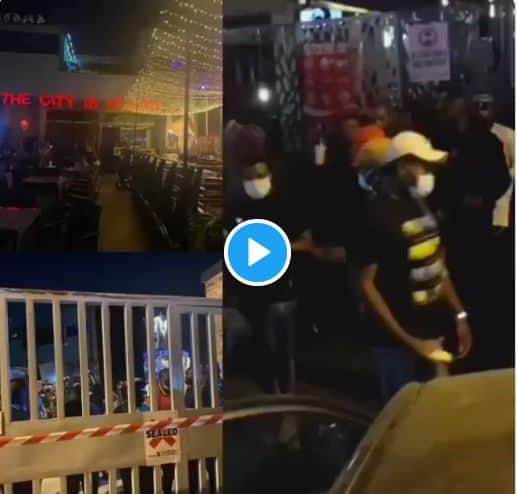 BREAKING: Lagos Police Shuts Down Cubana Over COVID-19, 'Arrests Clubbers' (Video)