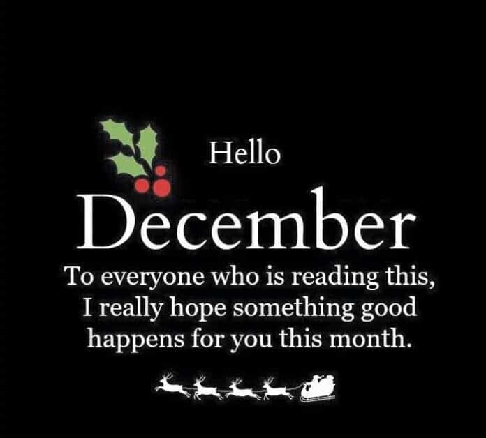 100 Happy New Month Messages For December 2020