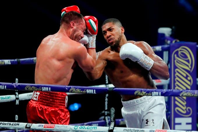 BREAKING: Anthony Joshua Knocks Out Pulev To Retain Titles (Video)