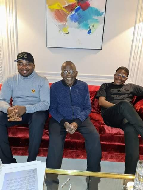Bola Tinubu Recovers, Meets Top PDP Chieftain, Popular Oba, Others (Photos)