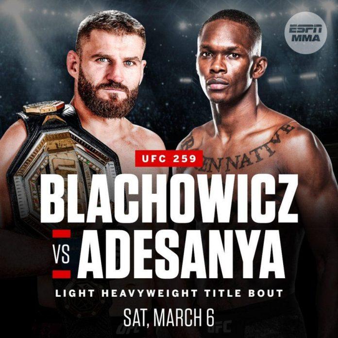 UFC259 Free Stream Of Blachowicz vs Adesanya
