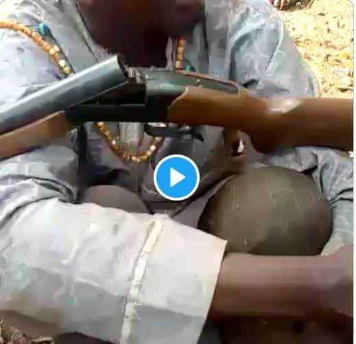 Non-Nigerian Fulani Herdsman Caught With Gun, NIN Slip (Video)