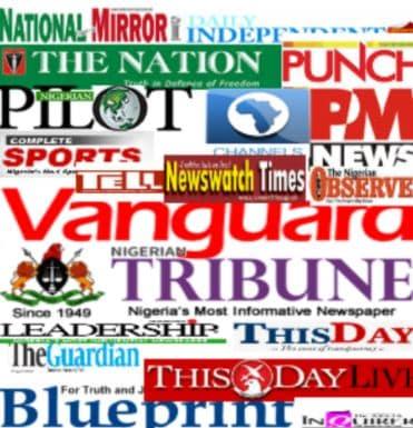 Newspaper Headlines From Nigerian Dailies Monday, April 19, 2021