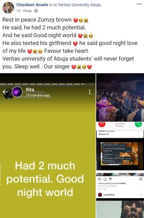 Nigerian Singer Dies After Posting This Online 3