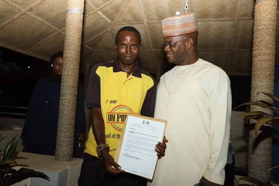 Governor Yahaya Bello Appoints Cleaner As SSA (Photos)