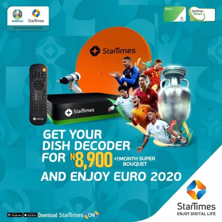 EURO 2020: StarTimes Slashes Decoder Price 1