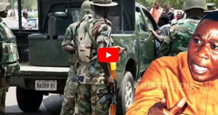 BREAKING: Soldiers Stop Sunday Igboho From Entering Igangan Forest (Video)