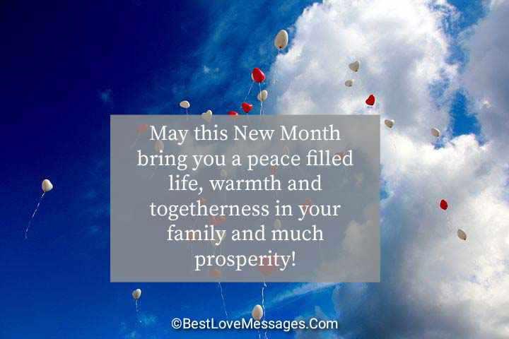 Happy New Month Messages Images for Loved Ones
