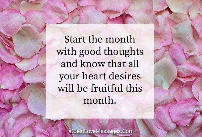 Happy New Month Messages Image
