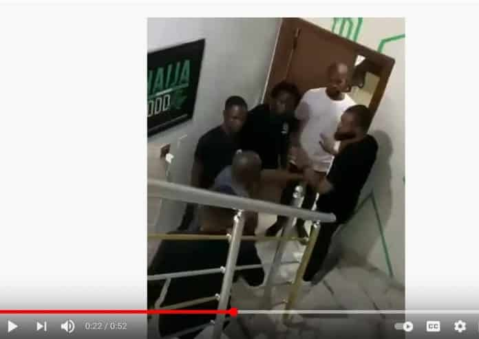Watch As Jim Iyke Beats Uche Maduagwu For Asking EFCC To Invite Him [Video]