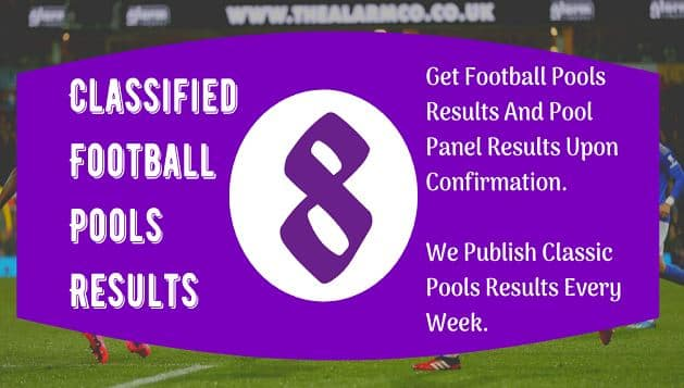 Week 8 Pool Result 2021 For Sat 28 Aug 2021 – UK Football From Pool Agent